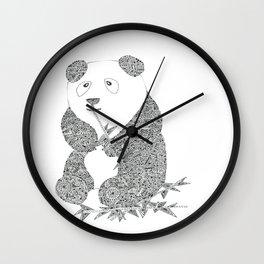 Panda Party Bambo Baby Wall Clock