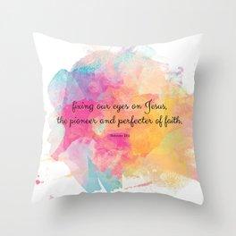 Perfecter of Faith, Scripture Tote Bag Throw Pillow
