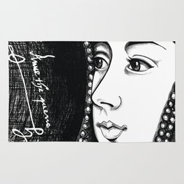 Queen Anne Boleyn Portrait  Rug