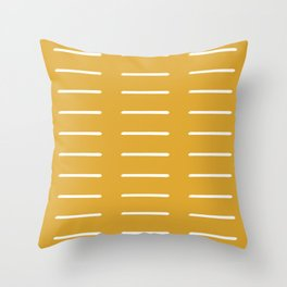 organic / yellow Throw Pillow
