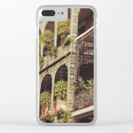 New Orleans Royal Street Balconies Clear iPhone Case