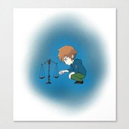 Libra Zodiac Boy Canvas Print