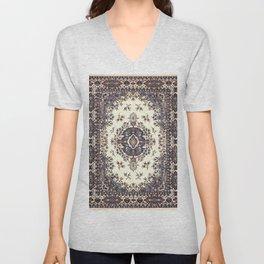 V8 Moroccan Epic Carpet Texture Design. Unisex V-Neck