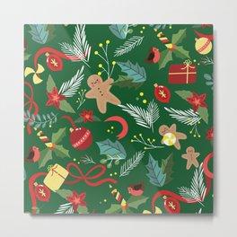 Christmas Pattern 14 Metal Print