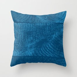 Wood Waves Throw Pillow