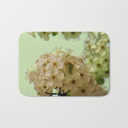 Spring Flowers on mint green background A377 Bath Mat