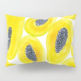 Papaya slices watercolor Pillow Sham