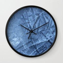Cracked Ice Wall Clock