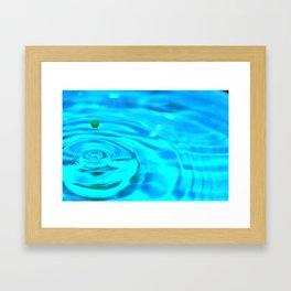 Born of Aqua Framed Art Print