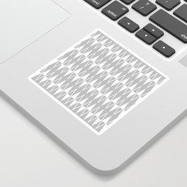 Mid Century Modern Diamond Pattern Gray 234 Sticker