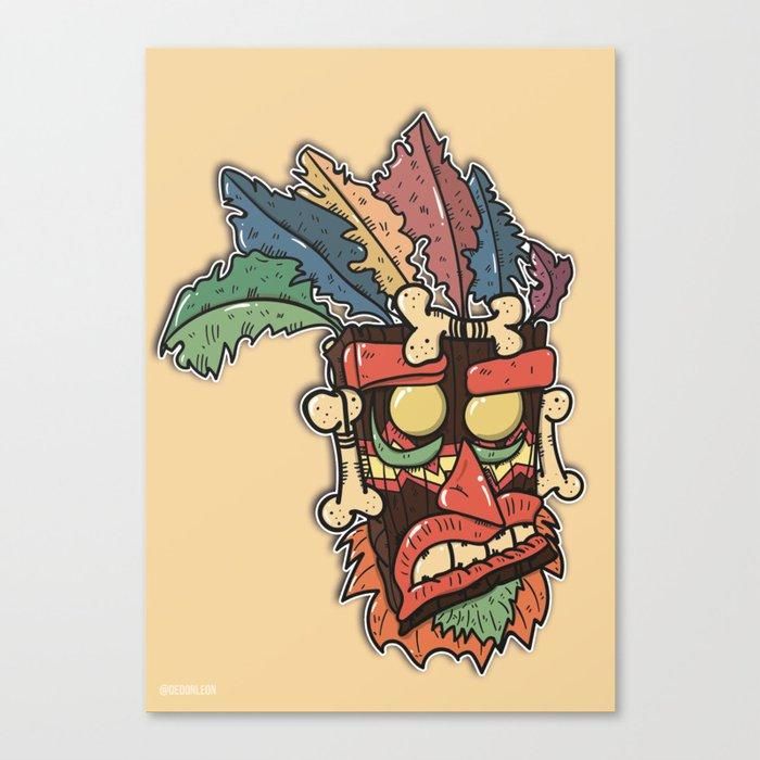 aku aku uka uka mashup crash bandicoot canvas print by dedonleon