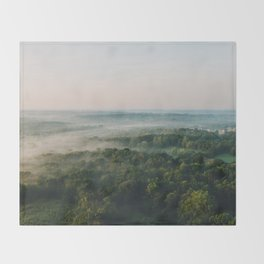 Kentucky from the Air Throw Blanket