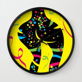 Body painted Wall Clock