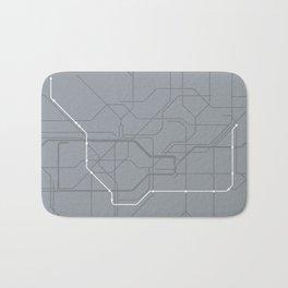 London Underground Jubilee Line Route Tube Map Bath Mat