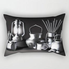 Chromed metal Rectangular Pillow