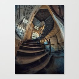 Old forgotten staircase Canvas Print