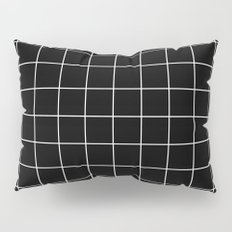 Black White Grid Pillow Sham