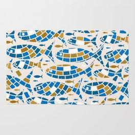 Mosaic Fishes Rug