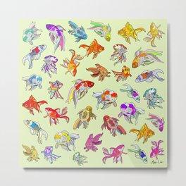 Fish Swimming in Sea Metal Print
