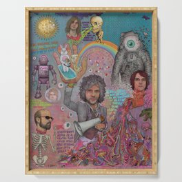 The Flaming Lips - Fear Of Slippery Brains, Electric Toasters & Evil Natured Robots From Outer Space Serving Tray