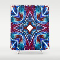 seashell Shower Curtains featuring Seashell by Lachlan Willis