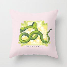 Crucified Serpent Throw Pillow