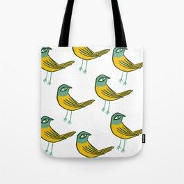 Green Bird Tote Bag