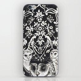 Three Moon Owls iPhone Skin