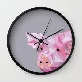 pig graphic | feyerabend illustration Wall Clock