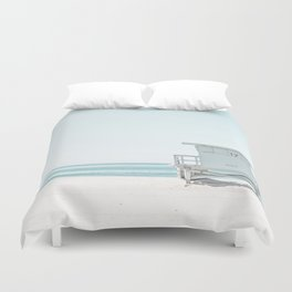 Lifeguard Beach Hut Duvet Cover