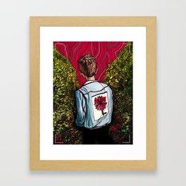 Dark Dona Denim Framed Art Print