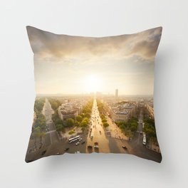 Champs Elysees From the Top Throw Pillow