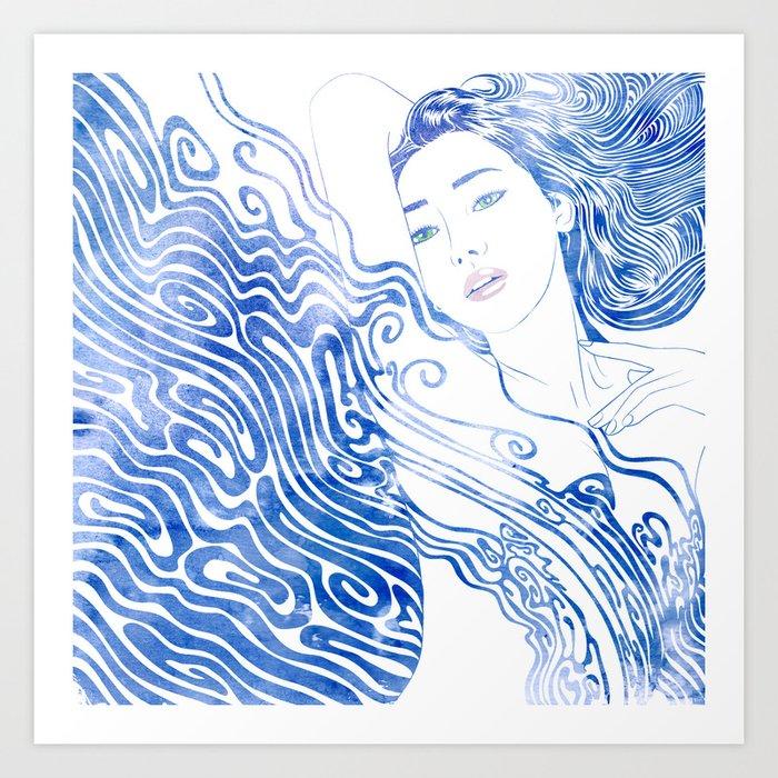 Water Nymph LXXVIII Art Print