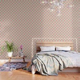 Pastel Rainbow Tablecloth Diagonal Check Wallpaper