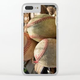 Baseballs and Glove Clear iPhone Case