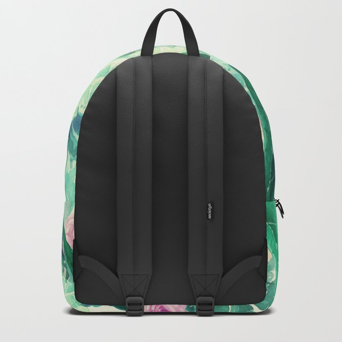 clean pink flowers and leaves Backpack