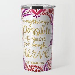 Anything's Possible – Gold & Red Travel Mug