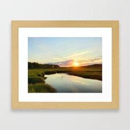 Sunset on Jones Road Framed Art Print