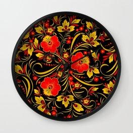Russian khokhloma Wall Clock