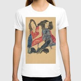 "Egon Schiele ""Zwei Mädchen (Two girls)"" T-shirt"