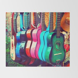 las guitarras. spanish guitars, Los Angeles photograph Throw Blanket