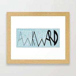 Awkward_Mug Framed Art Print