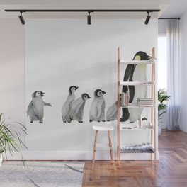 Little penguin says NO I am not going with you Wall Mural