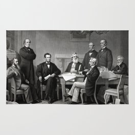 President Lincoln and His Cabinet Rug