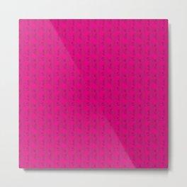 Ampersand Pink Metal Print