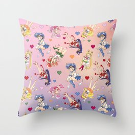 Chibi Super Inner Pattern Throw Pillow