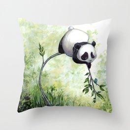 Panda Hello Throw Pillow