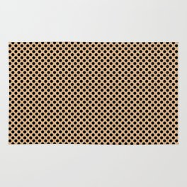Desert Mist and Black Polka Dots Rug