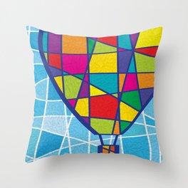 Balão de Recortes Throw Pillow