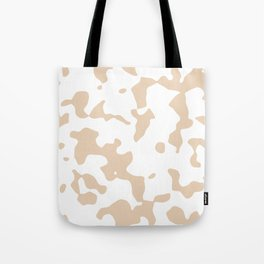 Large Spots - White and Pastel Brown Tote Bag
